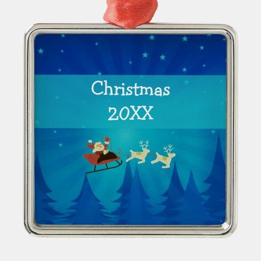 Santa Winter Scene Premium Ornament