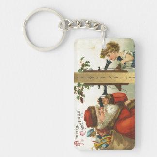 Santa Wish I Thee Keychain