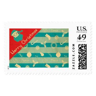 Santa wishing you Merry Christmas Stamps