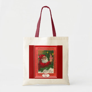 Santa with a Christmas tree and a doll Tote Bag