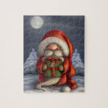 Santa with a gift jigsaw puzzles