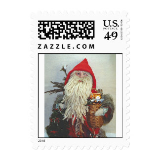 Santa with a Mop Beard Postage Stamps