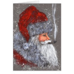 SANTA WITH A PIPE CARD