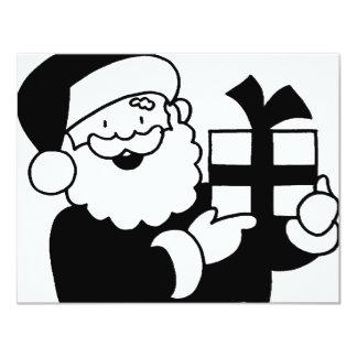 Santa With a Present Card