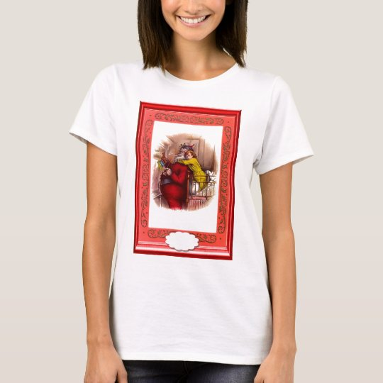 Santa with a sack on his back T-Shirt