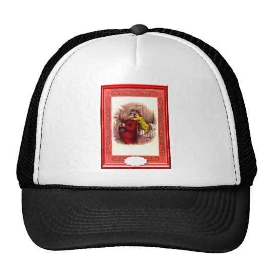 Santa with a sack on his back trucker hat