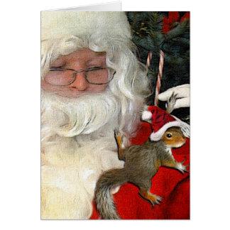 """""""Santa With Baby Santa Paws"""" Card"""