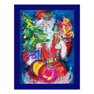 SANTA WITH CHRISTMAS TREE AND GIFTS FLYER