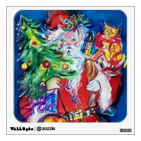 SANTA WITH CHRISTMAS TREE WALL STICKER