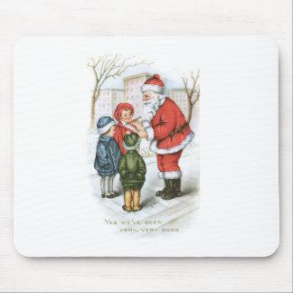 Santa with Christmas Wish List Mouse Pad