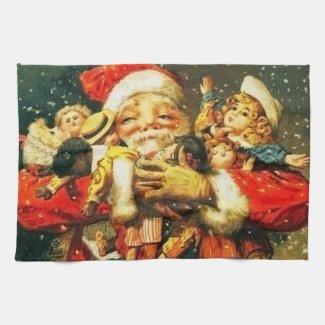 Santa with Dolls