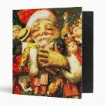 Santa with Dolls Vinyl Binder