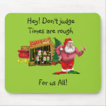 Santa with elves for rent mousepad