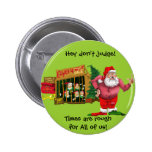 Santa with elves for rent pin
