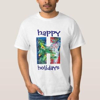 SANTA WITH GIFTS AND CHRISTMAS TREE H MONOGRAM T-Shirt