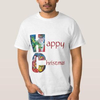 SANTA WITH GIFTS AND CHRISTMAS TREE MONOGRAM T-Shirt