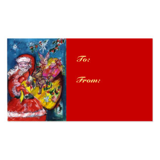SANTA WITH GIFTS Double-Sided STANDARD BUSINESS CARDS (Pack OF 100)
