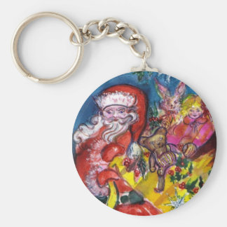 SANTA WITH GIFTS KEYCHAIN