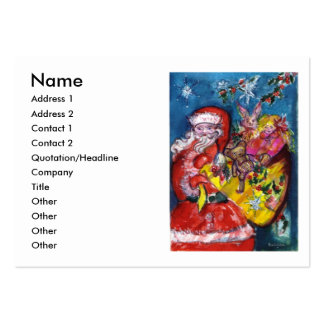 SANTA WITH GIFTS LARGE BUSINESS CARD