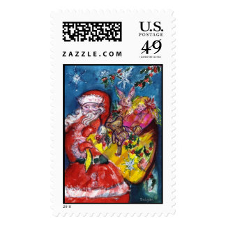 SANTA WITH GIFTS STAMP