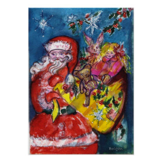 SANTA WITH GIFTS POSTER