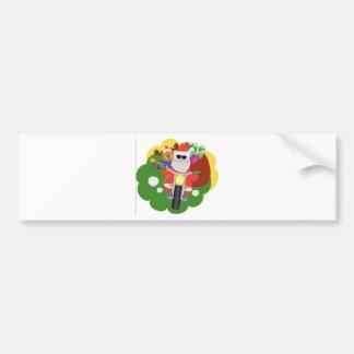 Santa with Goodie Bag Bumper Sticker