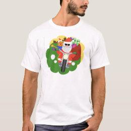 Santa with Goodie Bag T-Shirt