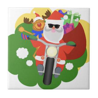 Santa with Goodie Bag Tile