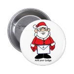 Santa with his Masonic Apron Button