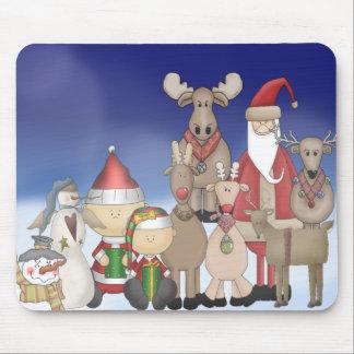 Santa with his pals mouse pad