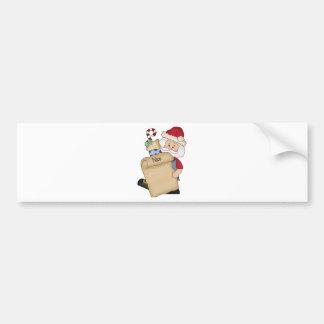 Santa with Nice list Bumper Sticker