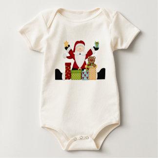 Santa with presents baby bodysuit