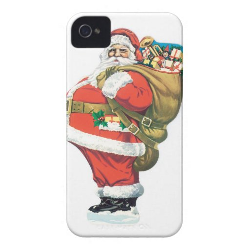 Santa with Presents iPhone 4 Case