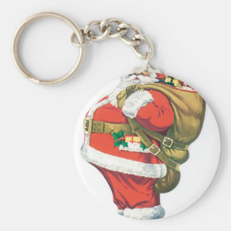 Santa with Presents Keychain
