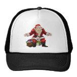 santa with presents mesh hats