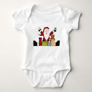 Santa with presents t shirt