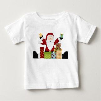 Santa with presents tee shirt