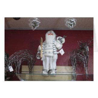 Santa with Raindeer Christmas Card