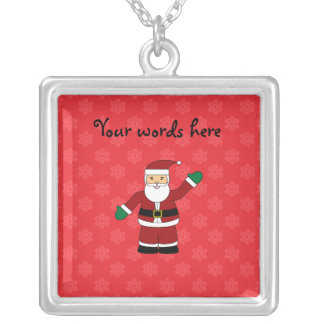 Santa with red snowflakes pattern jewelry