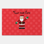 Santa with red snowflakes pattern signs