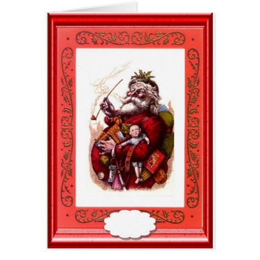 Santa with some toys cards