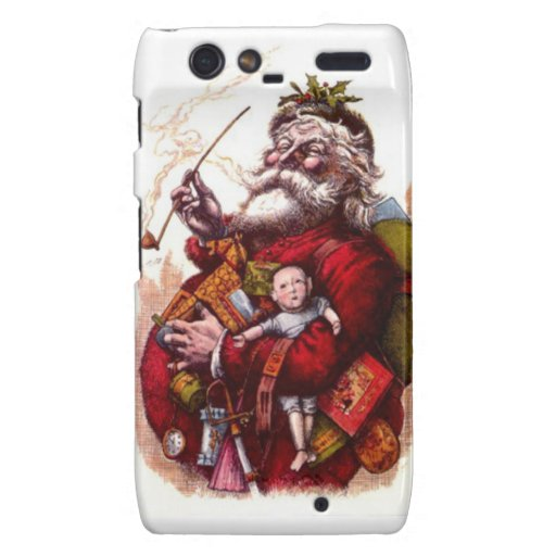 Santa with some toys droid RAZR covers