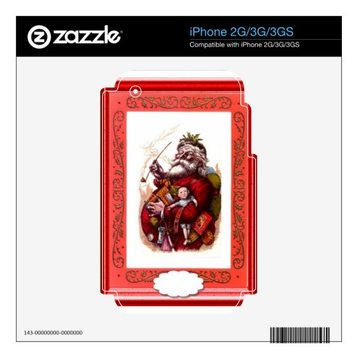 Santa with some toys decals for the iPhone 3G