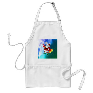 Santa with tennis racquet and bells adult apron