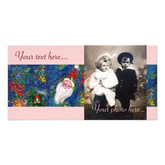 SANTA WITH TOYS , CHRISTMAS NIGHT CARD