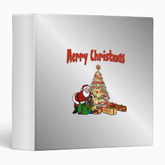 Santa with Toys Under Christmas Tree Binder