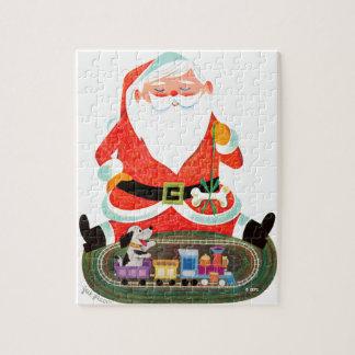 Santa with Train Jigsaw Puzzle