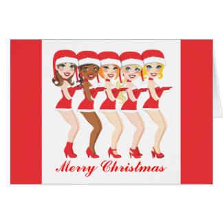 Santa Women Dance Card