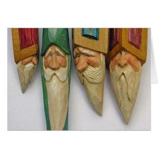 Santa Woodcarvings (No. 0701) Card