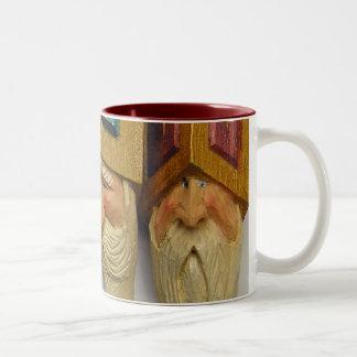 Santa Woodcarvings (No. 0701) Coffee Mug